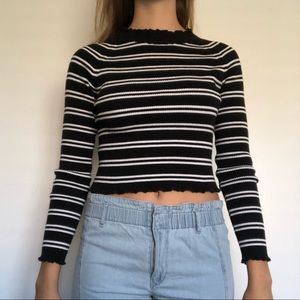 Kendall and Kylie Mock Neck Crop Top
